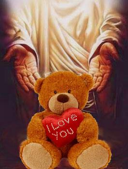 Valentine's Day Jesus Teddy Bear