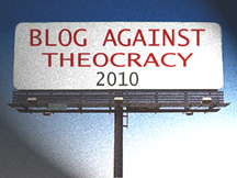blog against theocracy 2010 billboard