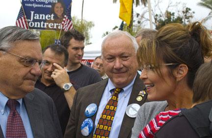 Sheriff Joe meets and tweets Sarah Palin